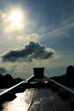 一条热的小船 免版税库存照片