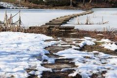 一条狭窄的石路 免版税图库摄影