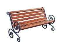 一条现代长凳在公园或庄园 库存照片