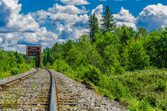 一条真正地长的铁路 免版税库存图片