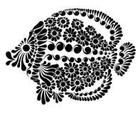 一条神仙的鱼的装饰图象 免版税库存图片