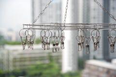 一条空的晾衣绳 免版税图库摄影