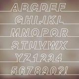 一条线字体 免版税库存照片