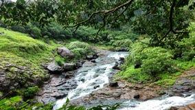 一条美丽的小河 库存照片