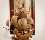 一条老小船的模型 库存照片