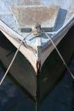 一条老小船的船首 库存照片