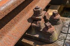 一条老铁路的细节 库存图片