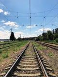 一条老铁路 免版税库存照片