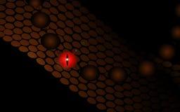 一条蛇的眼睛在黑暗的 向量例证