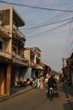 一条街道在会安市-越南 免版税图库摄影