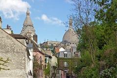一条街道在区蒙马特(巴黎) 免版税库存照片