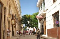 一条街道在哈瓦那古巴 库存图片
