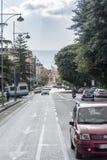 一条街道在墨西拿意大利 库存照片