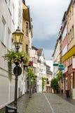 一条街道在科布伦茨市中心 图库摄影