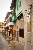 一条街道在老城安塔利亚 火鸡 库存图片