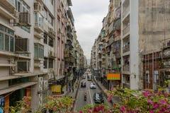 一条街道在街市澳门 免版税库存图片