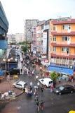 一条街道在阿克萨赖,伊斯坦布尔,土耳其 免版税图库摄影