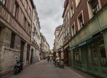 一条街道在鲁昂,法国 免版税库存照片