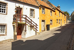 一条街道在Culross。 库存图片