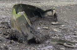 一条被击毁的小船 免版税库存图片