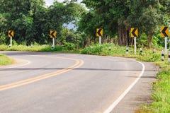 一条路的看法在楠府的, Tha Phu Lanka国家公园 库存照片