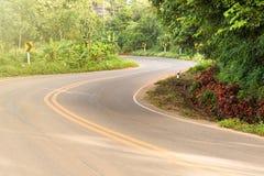 一条路的看法在楠府的, Tha Phu Lanka国家公园 免版税库存图片