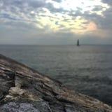 一条遥远的风船 库存照片