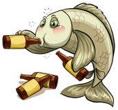 一条醉酒的鱼 免版税图库摄影