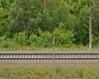 一条铁路轨道 免版税图库摄影