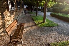 一条长凳在公园 图库摄影