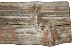一条长凳的细节从老被风化的木头的 免版税库存照片