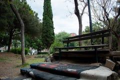 一条露天长凳 库存照片