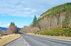 一条风景高速公路 库存图片