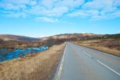 一条风景高速公路 免版税图库摄影