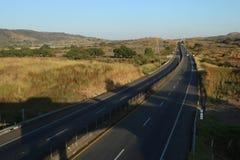 一条高速公路的怀乡看法在墨西哥 免版税库存照片