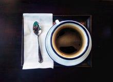 一杯咖啡古董样式 免版税库存图片