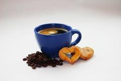 一杯咖啡对圣情人节 免版税图库摄影