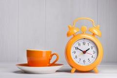 一杯咖啡的时刻 免版税图库摄影