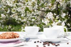 一杯咖啡的静物画 免版税库存图片