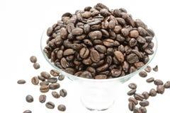 一杯咖啡豆 免版税库存图片