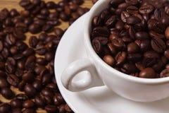 一杯咖啡豆 图库摄影