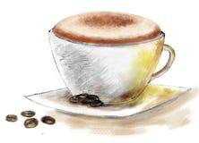 一杯咖啡 库存例证