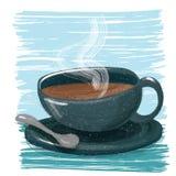 一杯咖啡 皇族释放例证