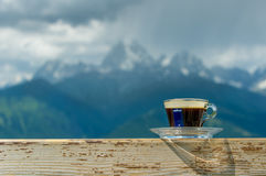 一杯咖啡lavazza浓咖啡 库存照片