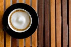 一杯热奶咖啡咖啡 库存照片