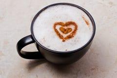 热奶咖啡爱 库存图片