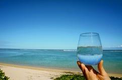 一杯水 免版税库存图片