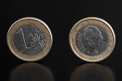 一枚欧洲硬币 库存图片