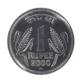 一枚卢比硬币 免版税库存照片