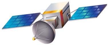 一枚卫星 向量例证